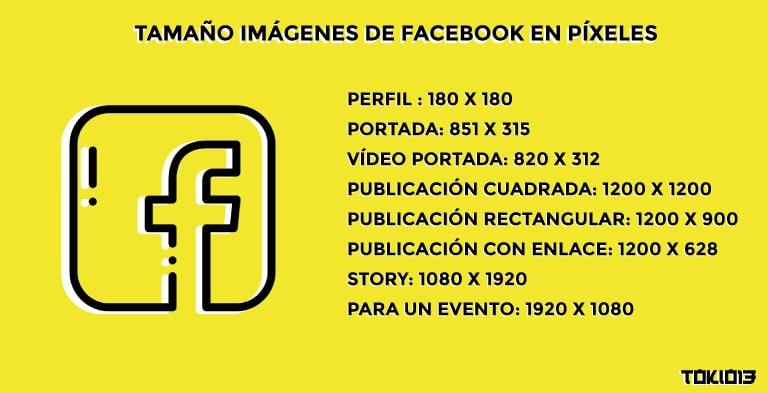 tamaño para las imágenes de facebook
